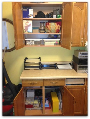 arts cupboard after