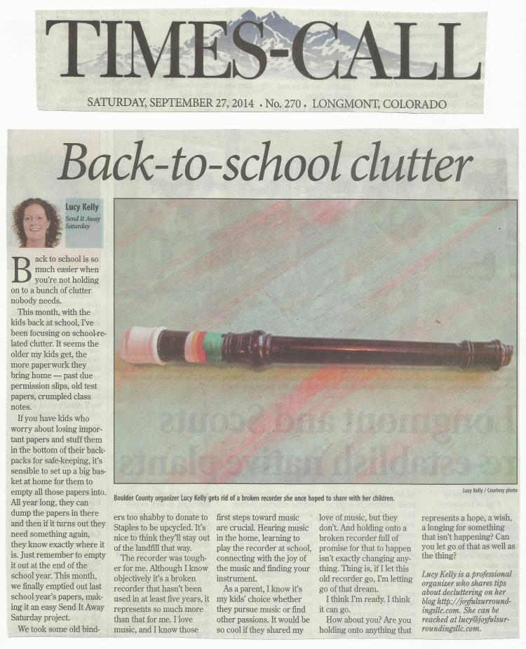 Longmont Times-Call Send it away Saturday column September 2014