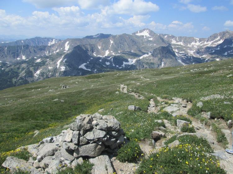 mountain trail at Chasm Lake