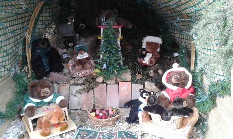 stuffed toys diorama