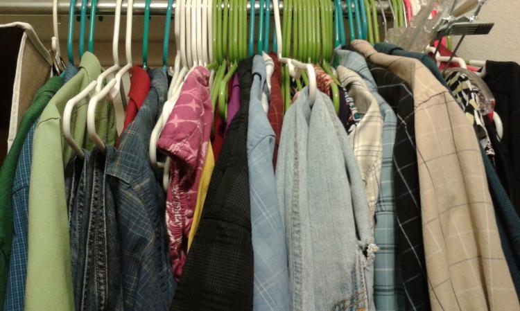 messy clothes closet