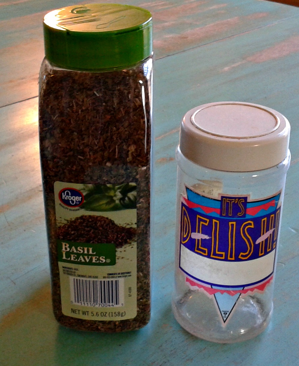 one full and one empty spice jar