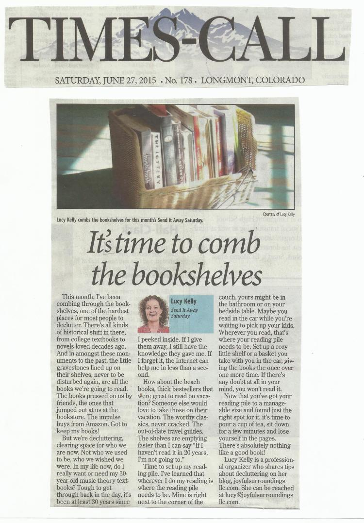 Longmont Times-Call Send it away Saturday column June 2015