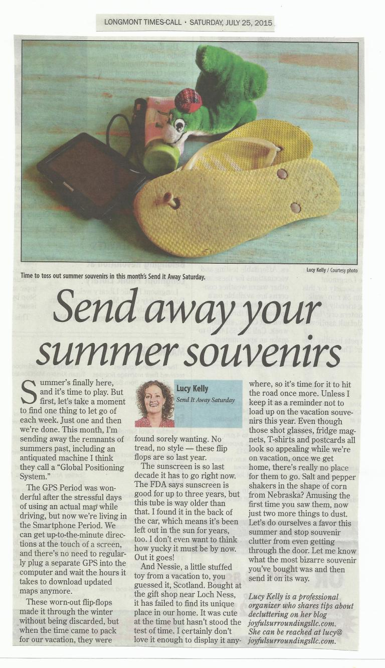 Longmont Times-Call Send it away Saturday column July 2015