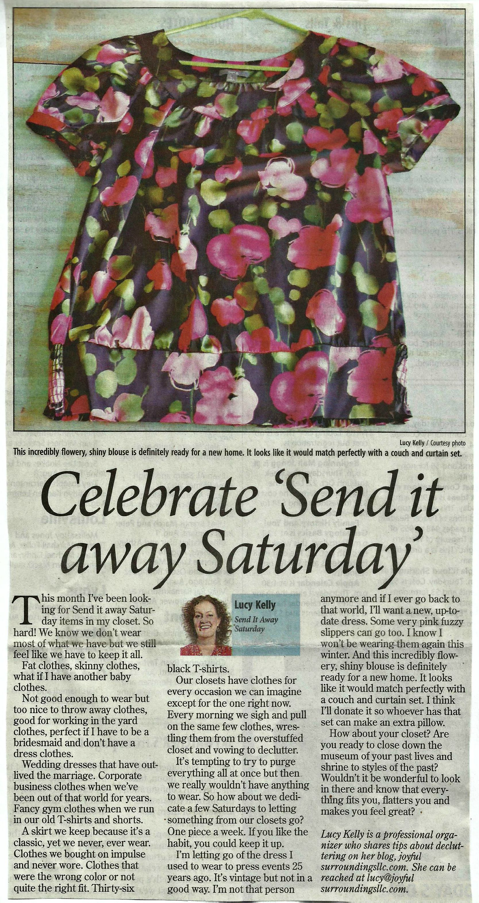 Longmont Times-Call Send it away Saturday column September 2015