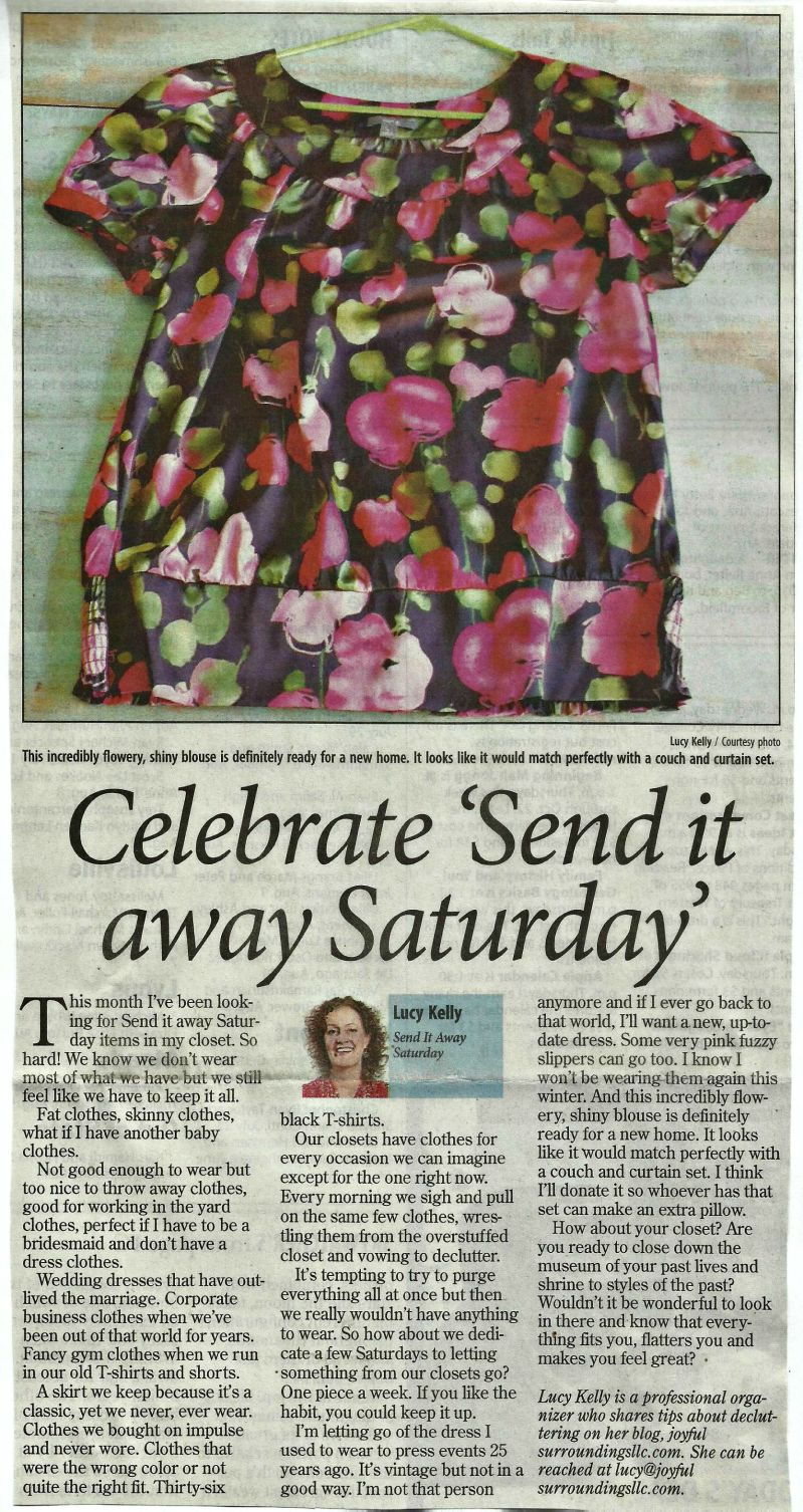 Longmont Times-Call Send it away Saturday column September 2015