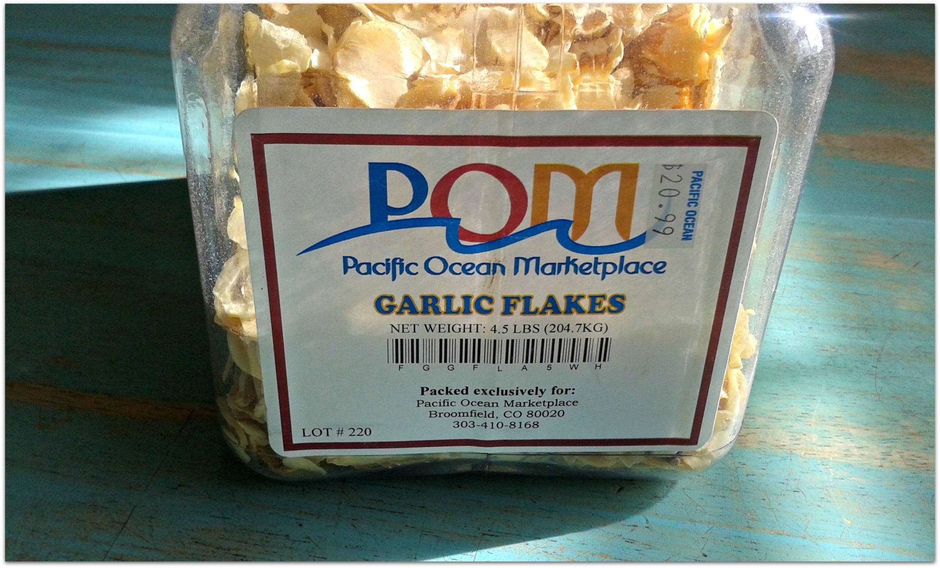 garlic flakes jar label