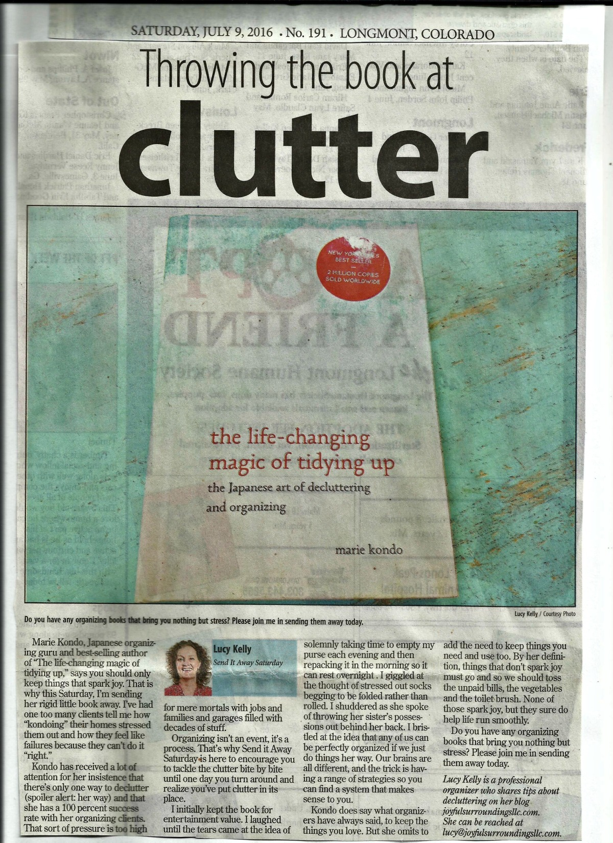 Longmont Times-Call Send it away Saturday column July 2016
