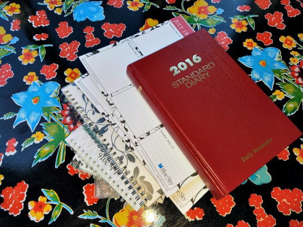 a bunch of old planners I'll never use