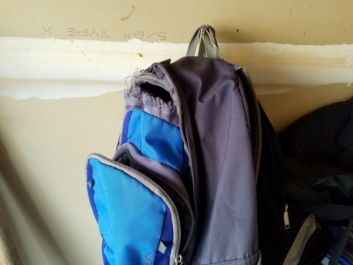 torn backpack